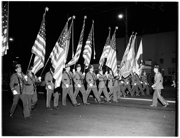 All Western Bands review and parade in Long Beach, 1951