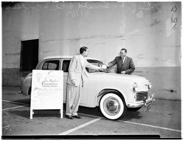 Examiner fishing contest winner, 1951
