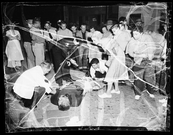Traffic fatality (Cherry Avenue south of 15th Street, Long Beach), 1951