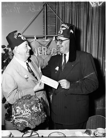 Shriners check presentation, 1951