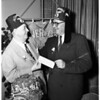 Shriners check presentation, 1951