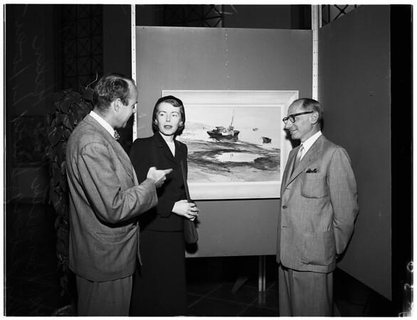 City Hall art show, 1951