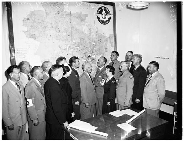 Civilian Defence Center, 1951