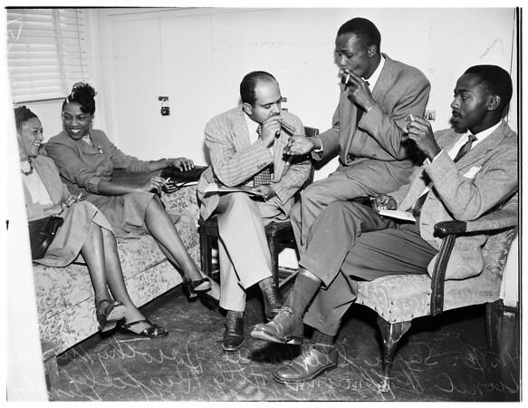 Teachers smoking story, 1951