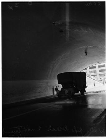 Water pipe break ...2nd Street Tunnel, 1951