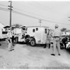 Brinks truck overturns in Burbank, 1951