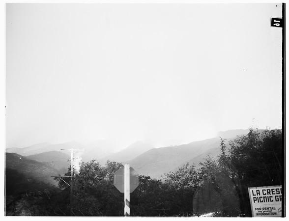 La Crescenta Valley fire, 1951