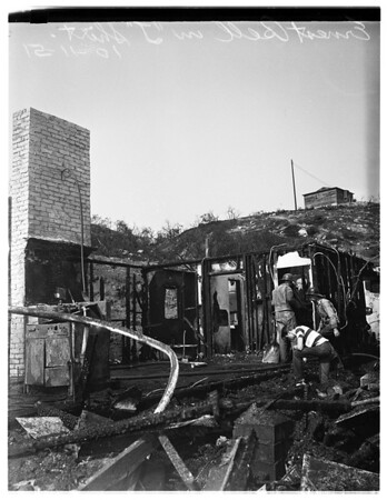 """Fire"" Shadow Hills, 1951"