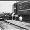 Auto collides into Pacific Electric Train... Pacific Coast Highway and Coil Street, Wilmington, 1951
