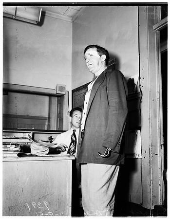 Handless robber... University Sub-Station, 1951