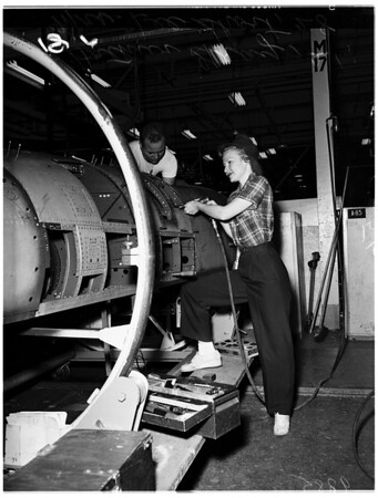 """Rosie the Riveter"" ...North American Aircraft, 1951"