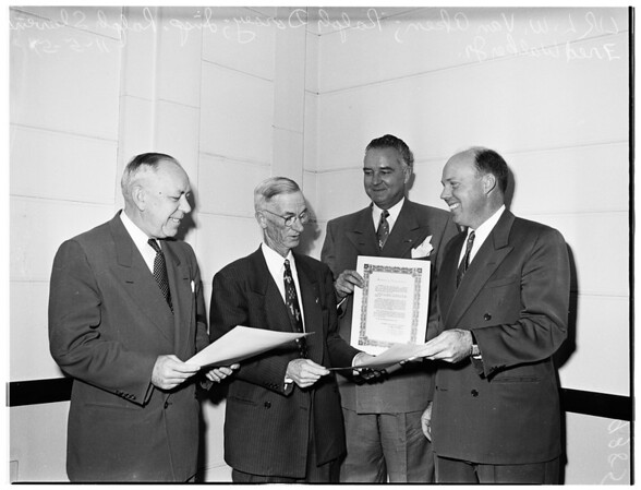 Traffic safety awards, 1951