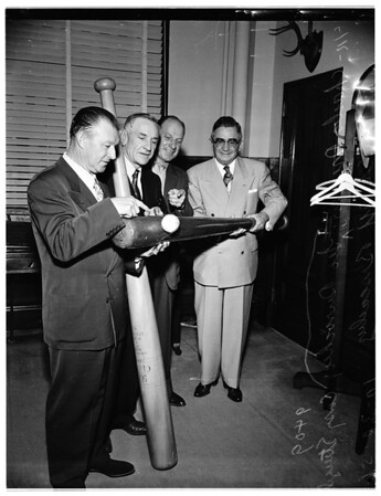Durocher visits Sheriff, 1951