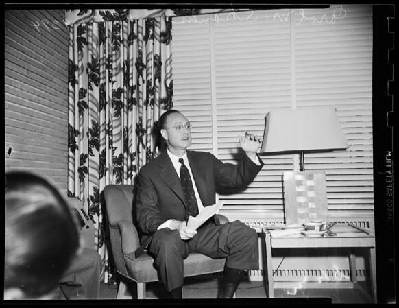 Interview... Beverly Hills Hotel, 1951