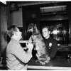 Doberman pinscher wanders into Hollywood station, 1951