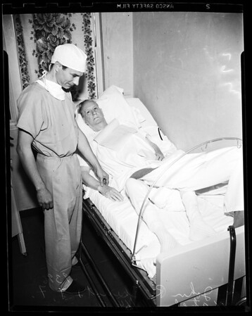 Blood clot surgery, 1951