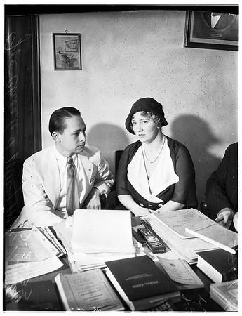Mary Miles Minter and Joe Choate, 1933