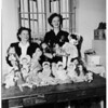 Civinettes solicit dolls for needy children in San Pedro... sewing is done by inmates in women's jail, 1951
