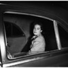 Beverly Hills ex-Mayor's daughter arrested for drunken driving, 1951