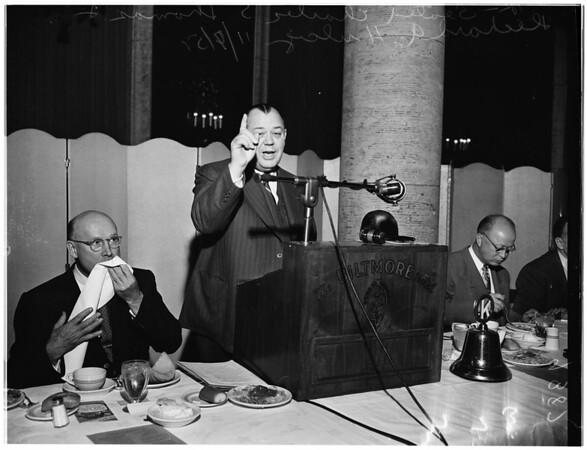 Kiwanis and Chamber of Commerce luncheon, 1951