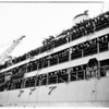 United States Ship Hector arrival in Los Angeles from Korea and Japan... berth 58, 1951