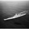 United States Ship Iowa off the coast of California, 1951