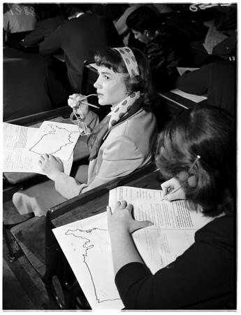 History Contest Belmont High School, 1951