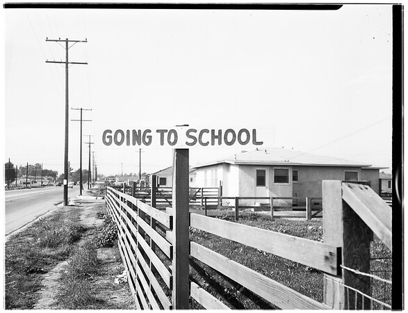 Temple City Safety Signs, 1951.