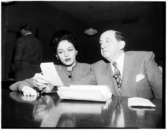 Bruce Cabot Divorce, 1951