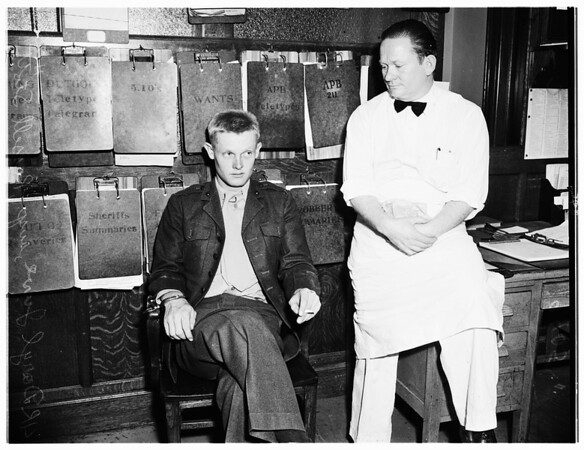 Hold-up at Simon's Restaurant at 8th Street and Broadway, 1951