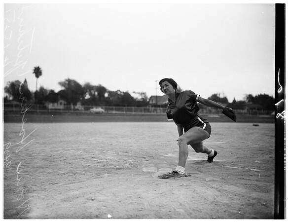 Softball ...girls ...Monrovia, 1951