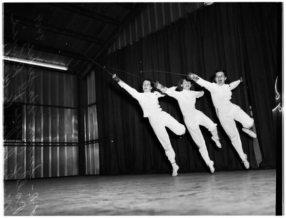 Fencing ...Falcon Studios, 1951