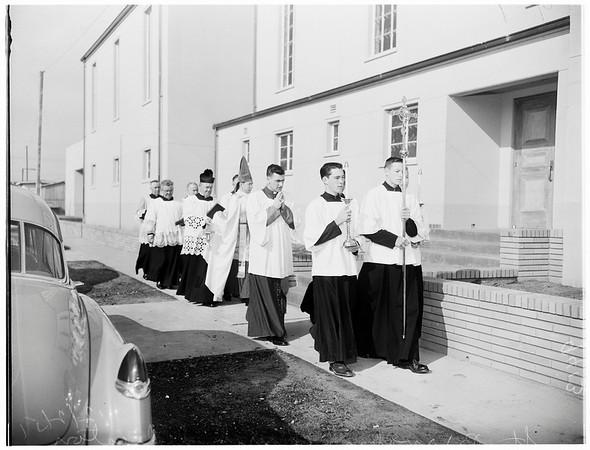 Saint Barnabas church dedication (Long Beach), 1951