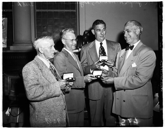Safe driving awards...United States mail drivers, 1951
