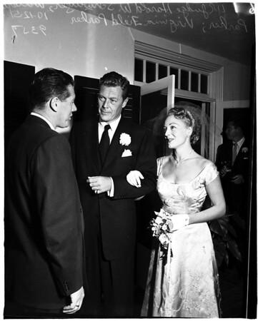 Virginia Field wedding, 1951