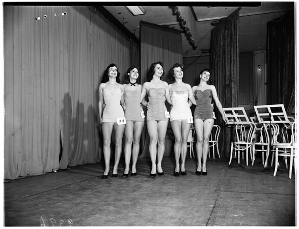 All-Western Band Revue at Long Beach Municipal Auditorium... Queen and four attendants, 1951