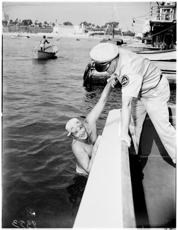 Catalina Channel swimmer, 1951