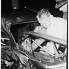 Accident ...Truck versus auto ...Alta Vista Avenue and Beverly Boulevard, 1951