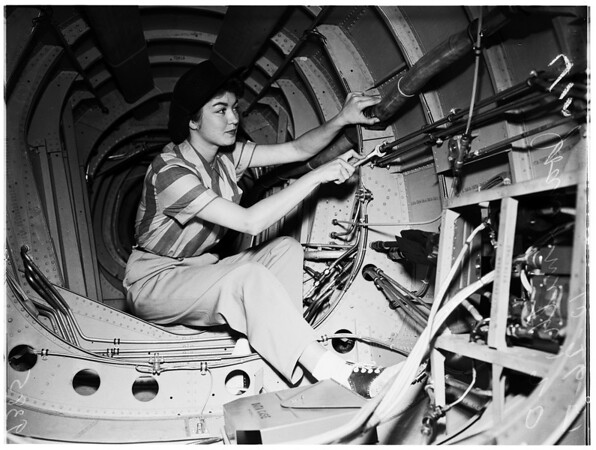 """""""Rosie the Riveter"""" ...North American Aircraft, 1951"""
