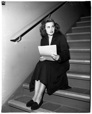 Jean Patterson in Court (Santa Monica), 1951
