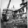 Demolishing old Pantages home, 1951