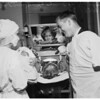 Unusual birth...baby born in Iron Lung ...General Hospital, 1951