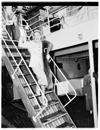 Lurline sailing for Hawaii and Mandated Islands in Pacific, 1951