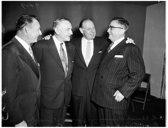 Press club dinner honoring managers of teams ...Del Mar Club ...Santa Monica, 1951
