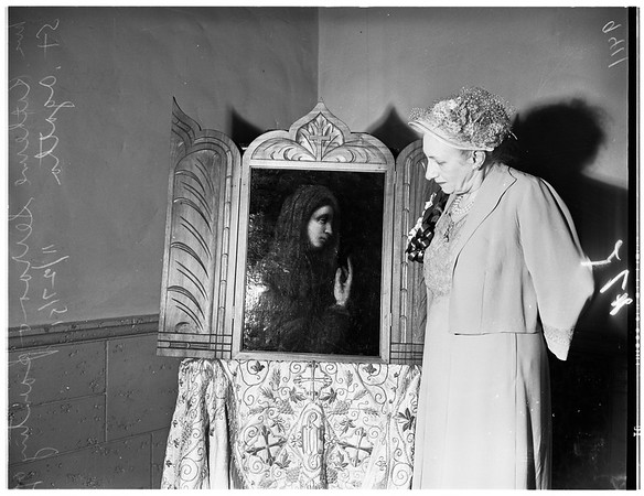 Restored Painting of Saint Agatha, 1951