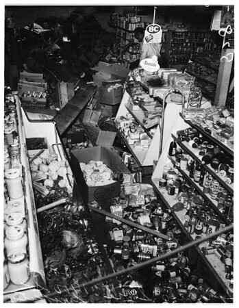 Auto into store... 1400 South Griffith Avenue, 1951