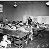 Crowded conditions at Roger Young School, 1951
