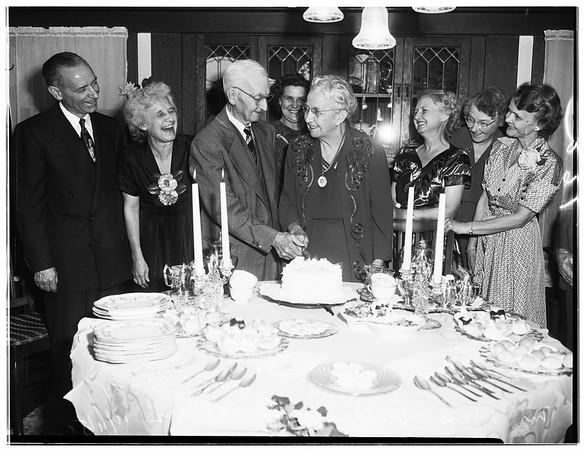 Sixty-fifth wedding anniversary... he is ninety, she is eighty-five, 1951