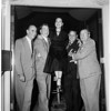 Dorothy Lamour invades all-male Author's Club...Hollywood Roosevelt Hotel, 1951