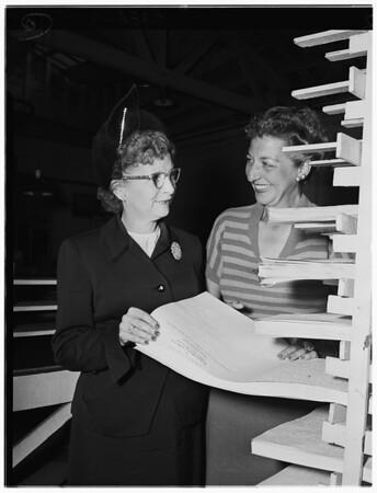 Plans for Braille Institute Annual Membership Dinner, 1951